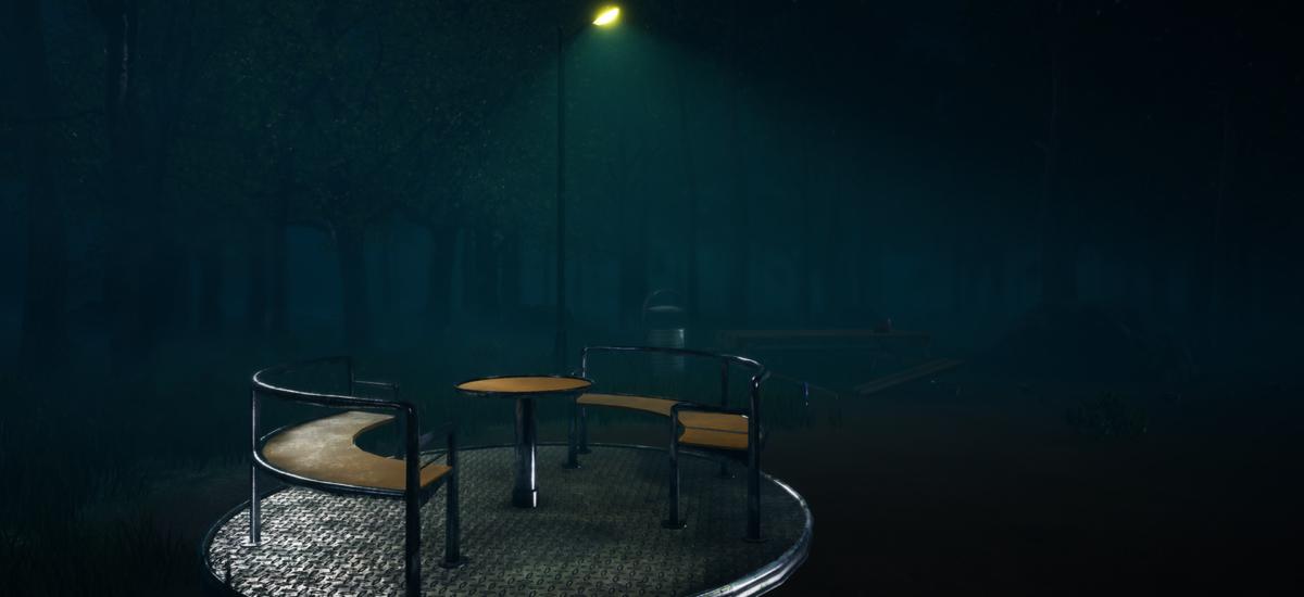 A Playground at Night