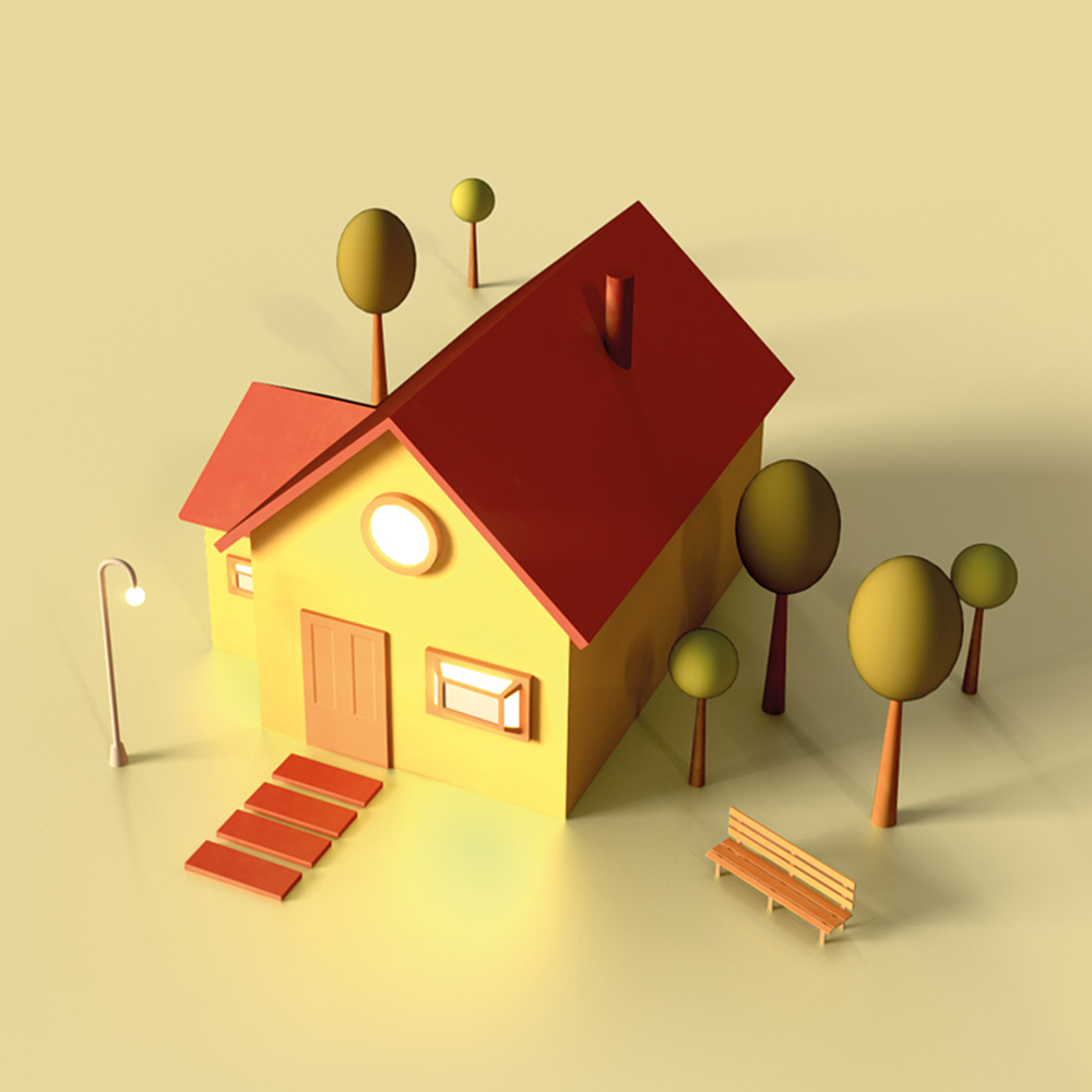 Stylized Housing Development